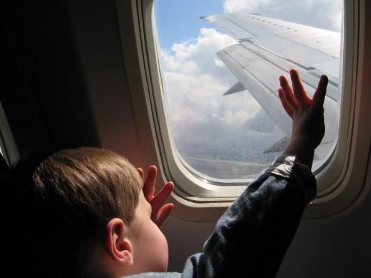 kid plane window
