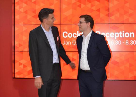 cu presedintele Google Europa - Matt Brittin