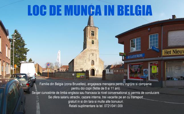 Loc de munca in Belgia